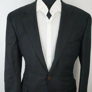 Samuelsohn SB Andrew Black Woven S120s Wool coat